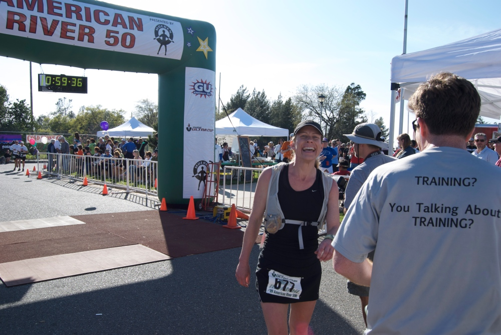 JW Crosses the Finish Line at the American River 50 Mile Endurance Run
