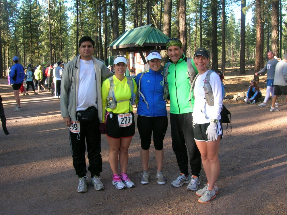 The SVRC Crew at Bizz Marathon - Ramesh, Kim, Carrie, Lynn, Me - not sure where Charles was