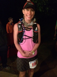 Happy Julianne at 4:45AM ready to start.