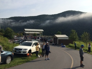 I'm not really sure which aid station this is. I think Happy Dutchman, mile 30.6.