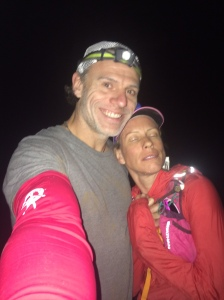 Scott and Julianne at mile 74, Long John aid station, where Scott began pacing.
